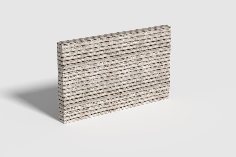 在绝尘室中间的三维砖墙 向量例证