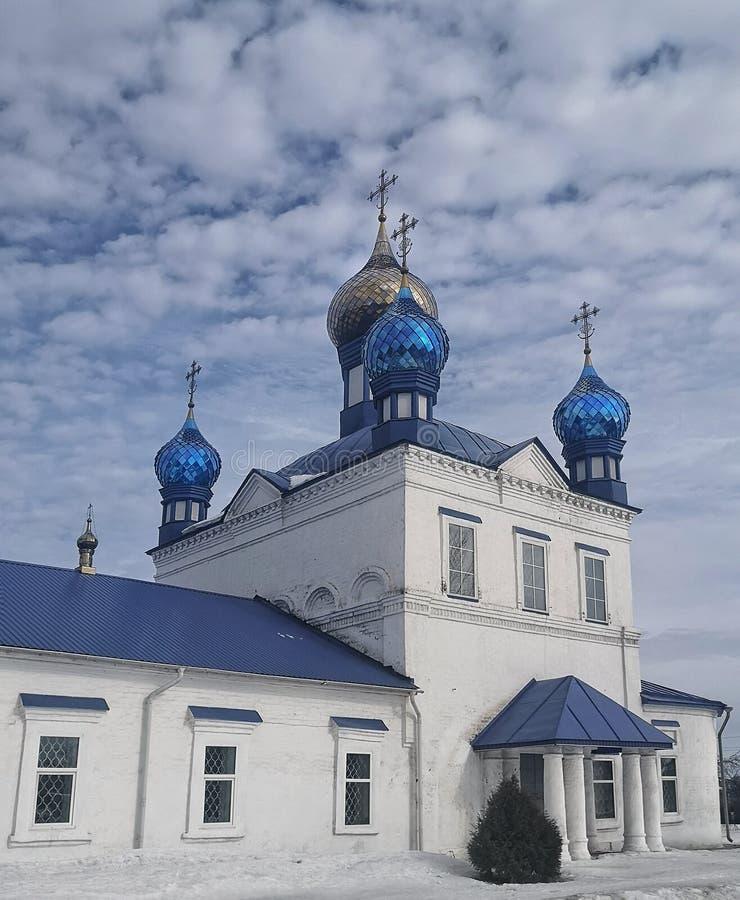 在1708年克里斯蒂安教会建造,俄罗斯 免版税库存照片