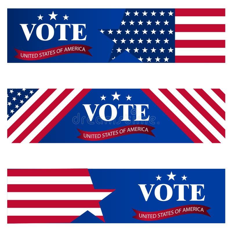 在2018年对美参院的竞选 美国竞选的模板 投票概念传染媒介例证的美国 皇族释放例证