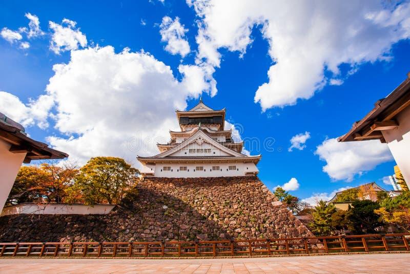 在1602年小仓城由细川忠兴,历史大厦建造 小仓城是日本城堡在北九州,福冈 库存图片
