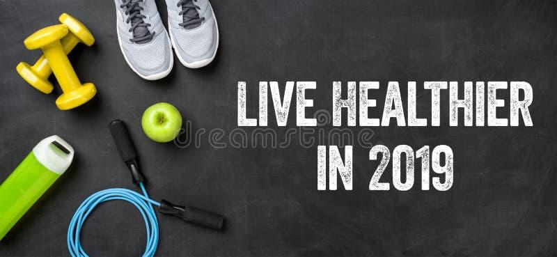 在2019年居住更加健康 免版税库存照片