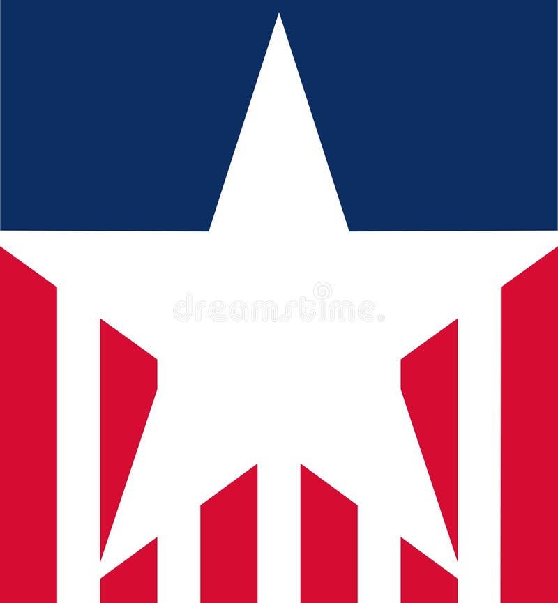在1776年美国独立纪念日纪念美国独立的葡萄酒标签 库存例证