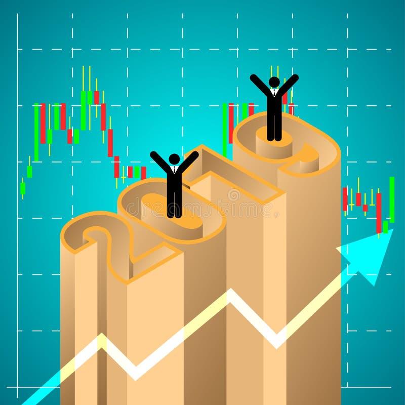 在2019年销售计划成功 也corel凹道例证向量 向量例证