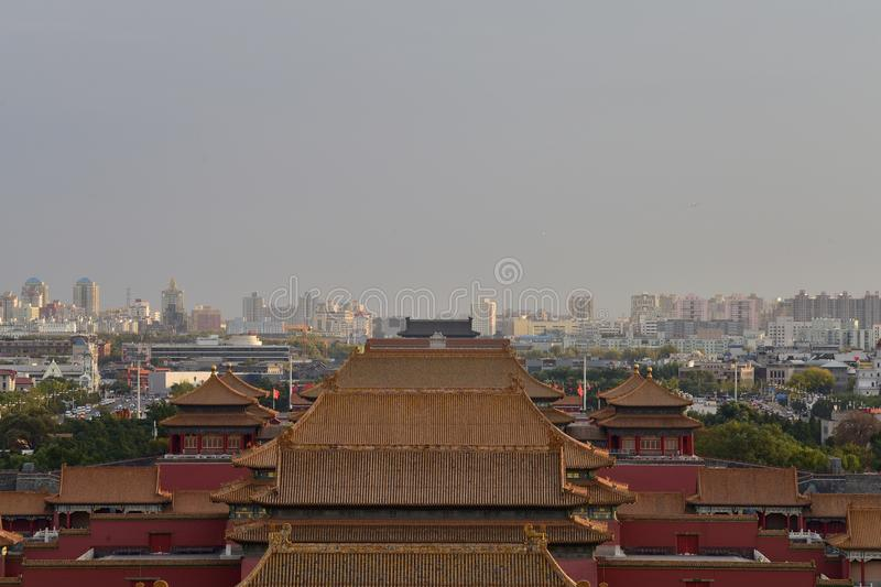 在2017年10月29日景山小山Chunting百万 库存照片