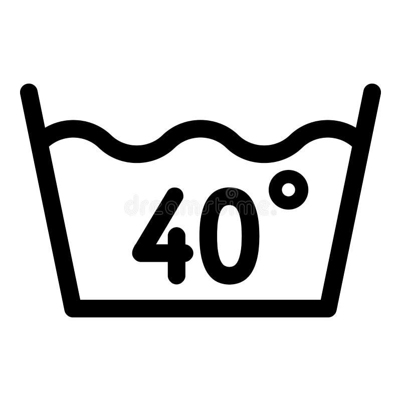 在70度或轰鸣声象,概述样式的洗涤向量例证. 插画包括有在70度或轰鸣声象,概述样式的洗涤- 139736053