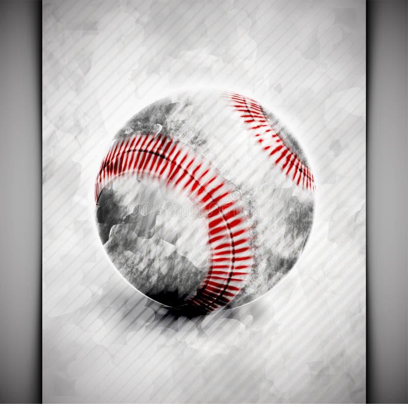 棒球球水彩 库存例证