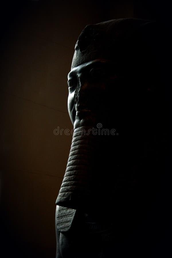 在阴影的埃及雕象 免版税图库摄影