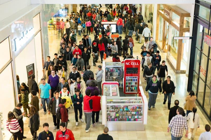在黑星期五, Westfield购物中心 库存图片