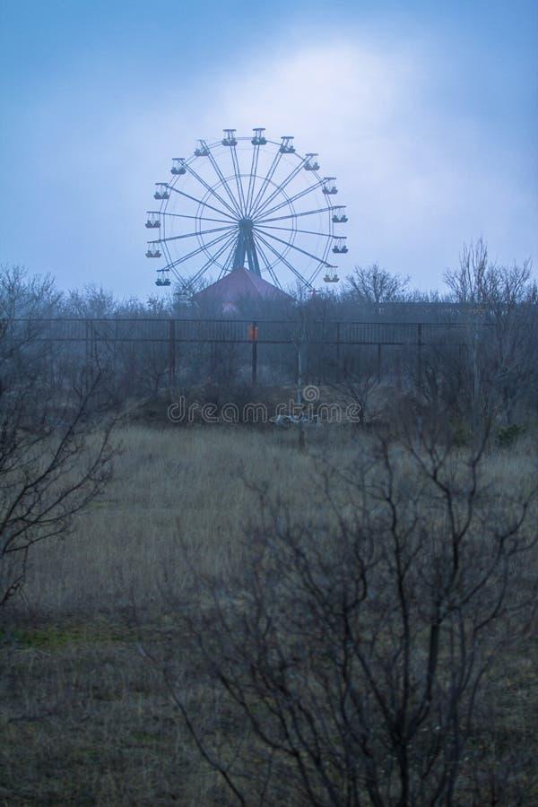 在破晓的弗累斯大转轮 库存照片