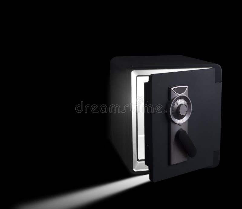 在黑暗的秘密保险柜 图库摄影