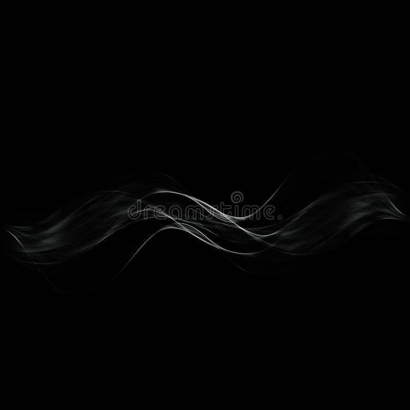 在黑暗的背景的白色透明蒸汽 免版税图库摄影
