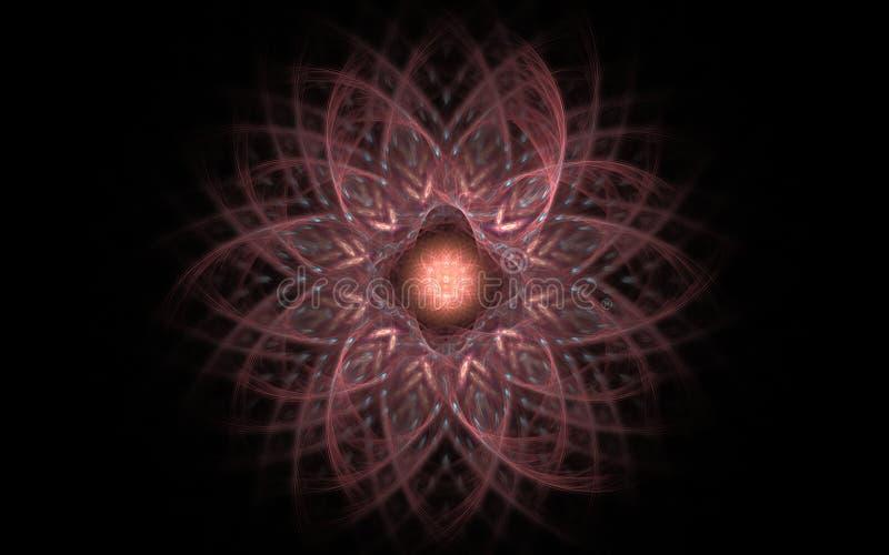 在黑暗的背景的神仙的花 库存图片