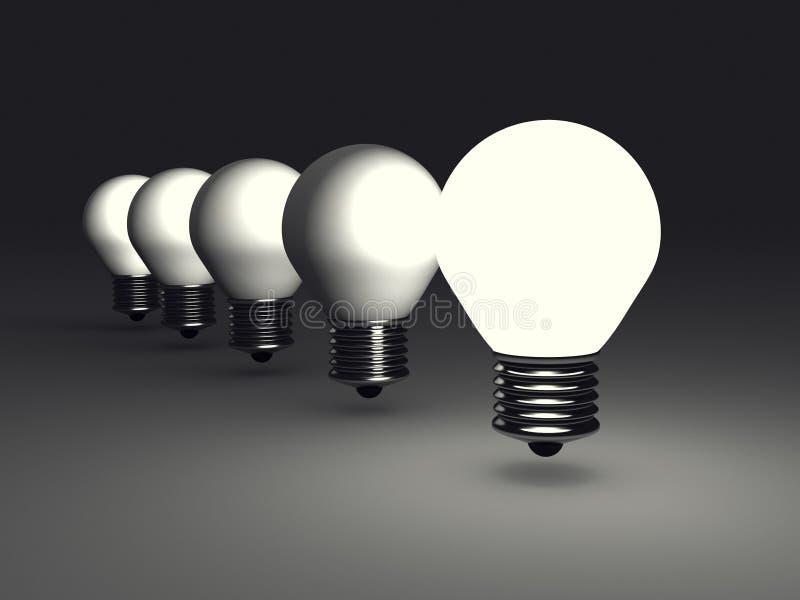 Download 在黑暗的领导人想法电灯泡 库存照片. 图片 包括有 机会, 领导, lit, 闪亮指示, 启发, 智能, 焕发 - 62528198