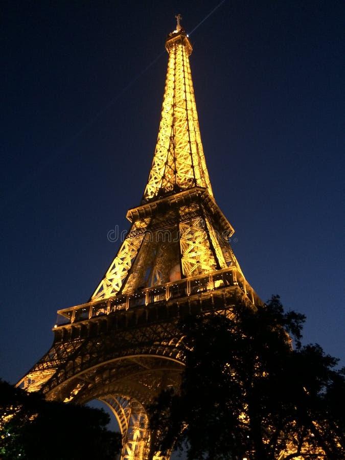 在黑暗的Eifell塔 免版税库存图片