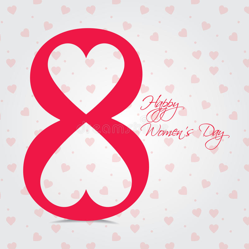 在3月8日,愉快妇女的天贺卡或背景的国际妇女的天 向量例证