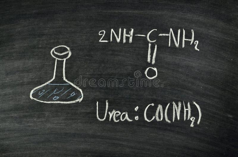 在黑板的尿素酸 免版税库存图片