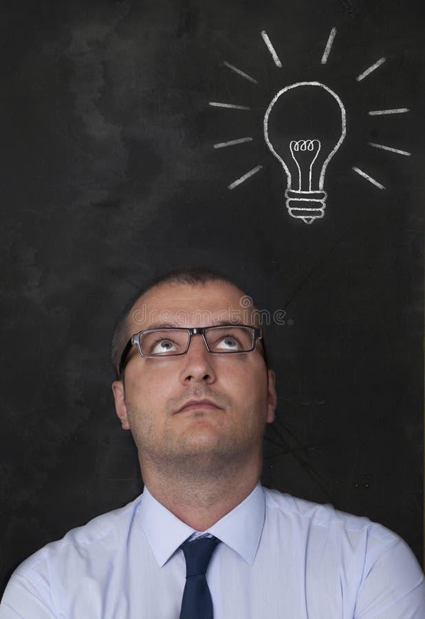 在黑板的想法 库存照片
