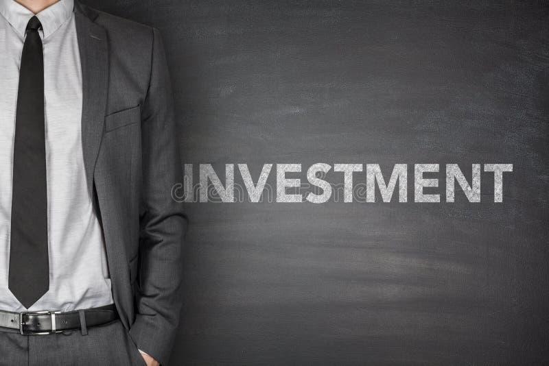 在黑板的投资 图库摄影