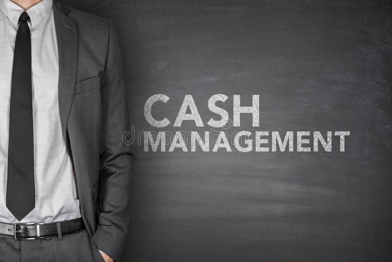 在黑板的现金管理 免版税库存图片