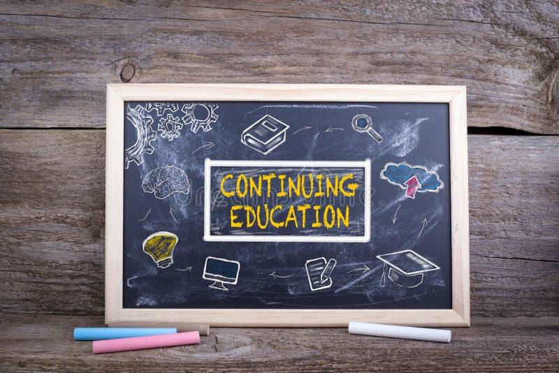 在黑板的继续教育 知识学会概念的教育研究 免版税图库摄影