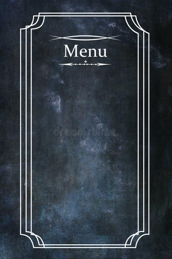 在黑板纹理背景的菜单与文本的室 库存照片