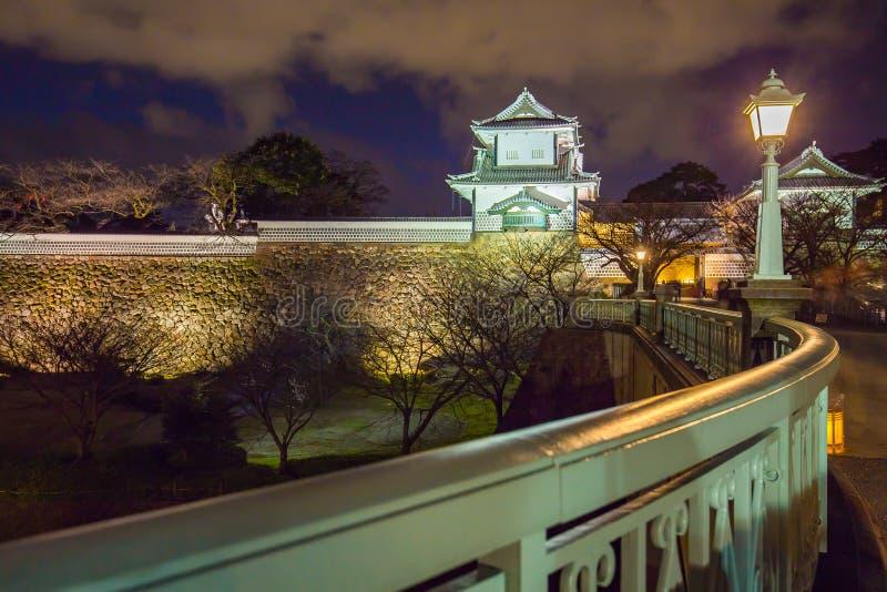 在今池城堡的夜在今池,日本 库存照片