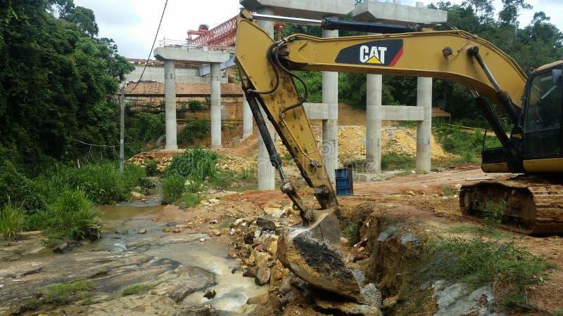 在水源附近的建筑 免版税图库摄影