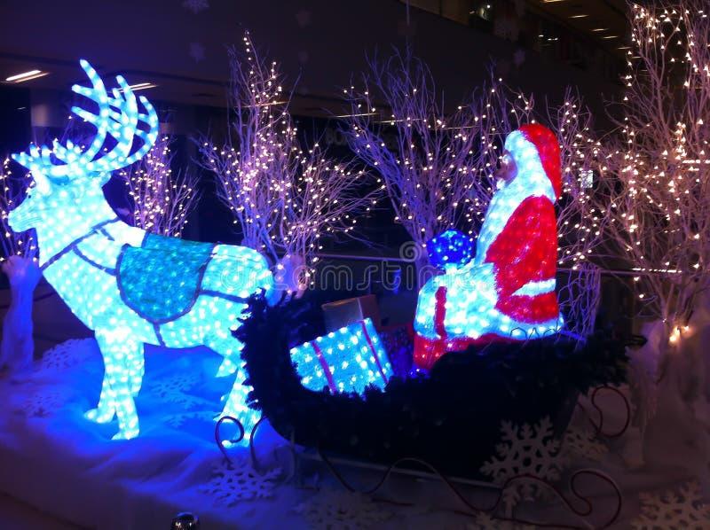 在购物中心的圣诞节装饰 图库摄影