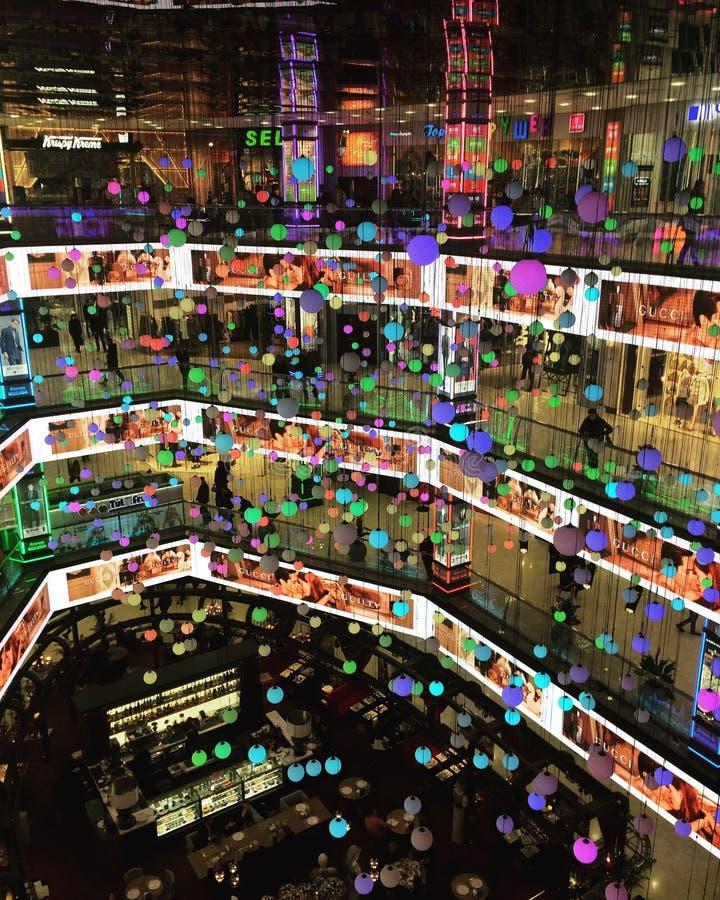 在购物中心的颜色 库存图片