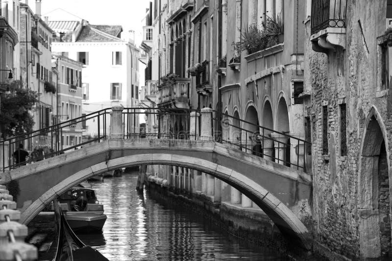在黑白的威尼斯视图 免版税图库摄影