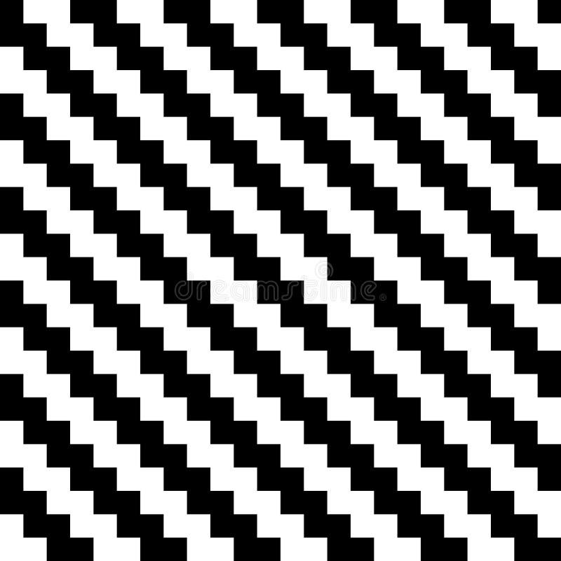 在黑白的抽象无缝的背景V形臂章样式 也corel凹道例证向量 库存例证