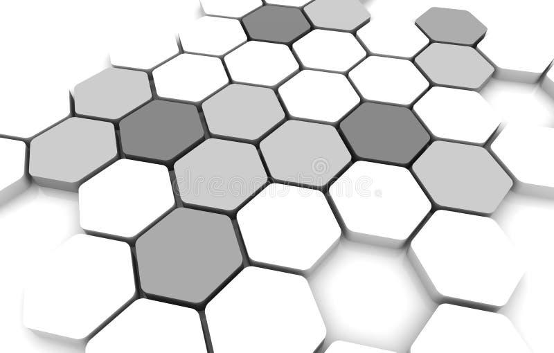 在黑白的空白的企业图连接 向量例证