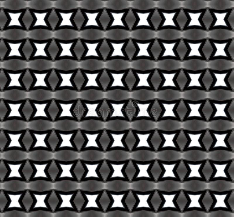 在黑白,重复的样式的星形式 图库摄影