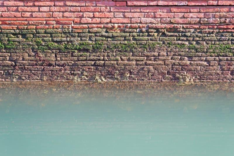在水的墙壁 库存图片