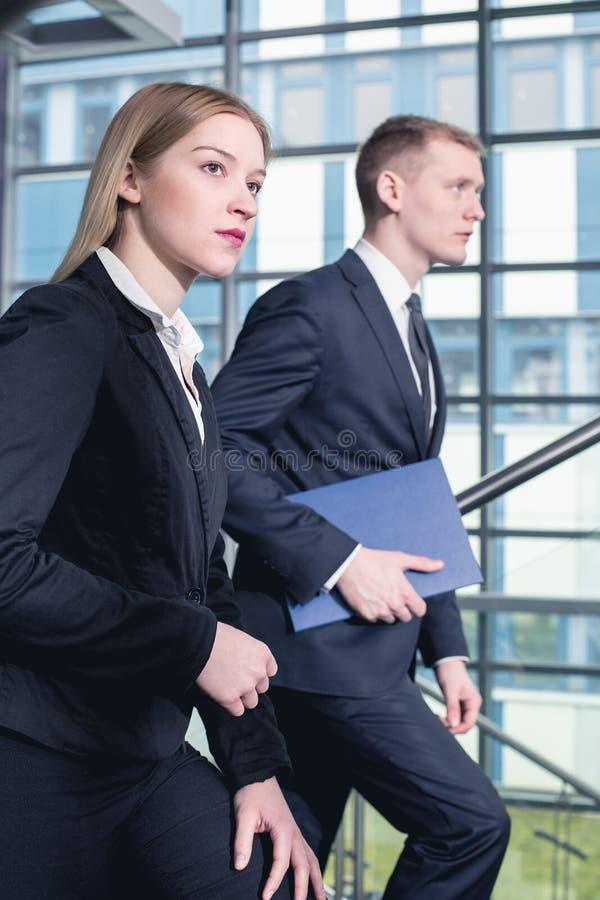 在他们的对会议的途中 免版税图库摄影
