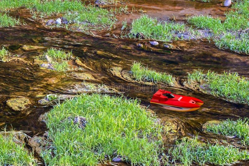 在水的小船 图库摄影