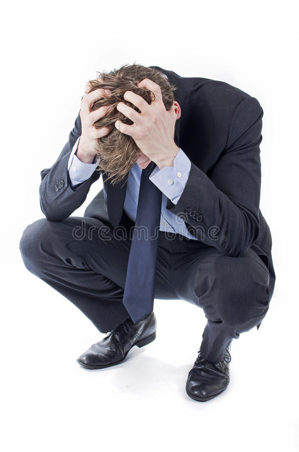 沮丧的商人 免版税库存照片