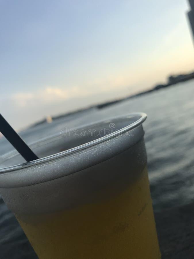 在水的饮料 图库摄影