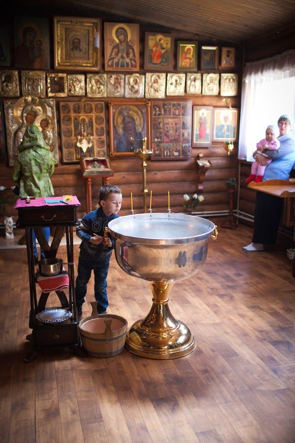 在洗礼仪式前。 免版税图库摄影