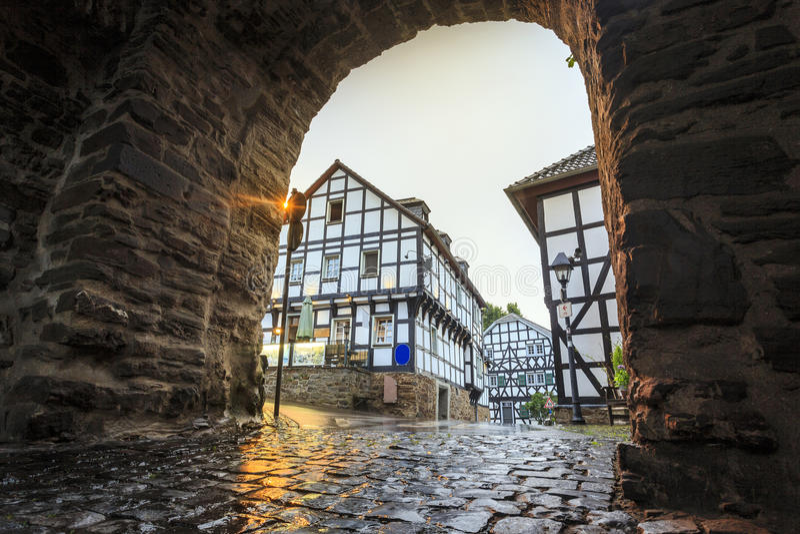 在建筑学的传统普鲁士人的墙壁在德国 免版税库存图片