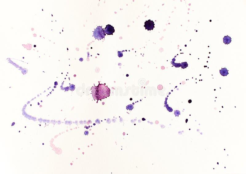 在紫罗兰色口气的抽象例证 免版税库存图片