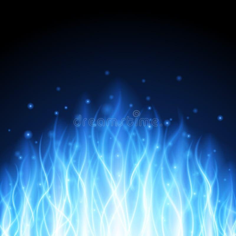 在黑背景例证的抽象火火焰光 皇族释放例证