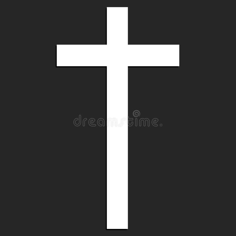 在黑背景的基督徒十字架 免版税库存图片