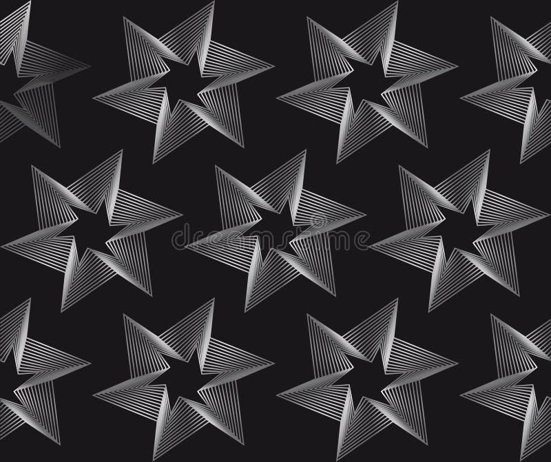 在黑背景的无缝的特征模式 皇族释放例证