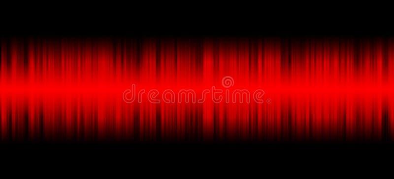 在黑背景的红色声音 皇族释放例证