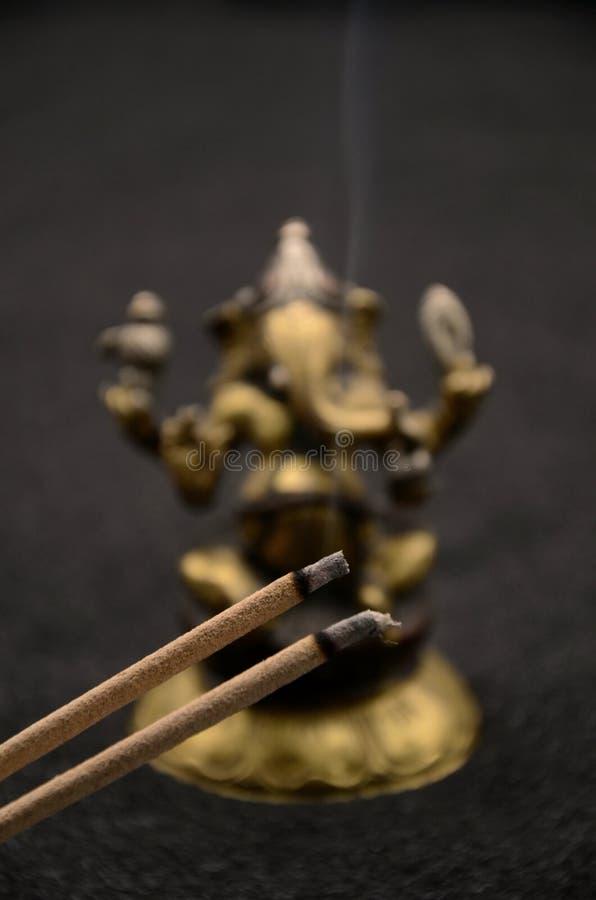 在黑背景的Ganesha 免版税库存照片