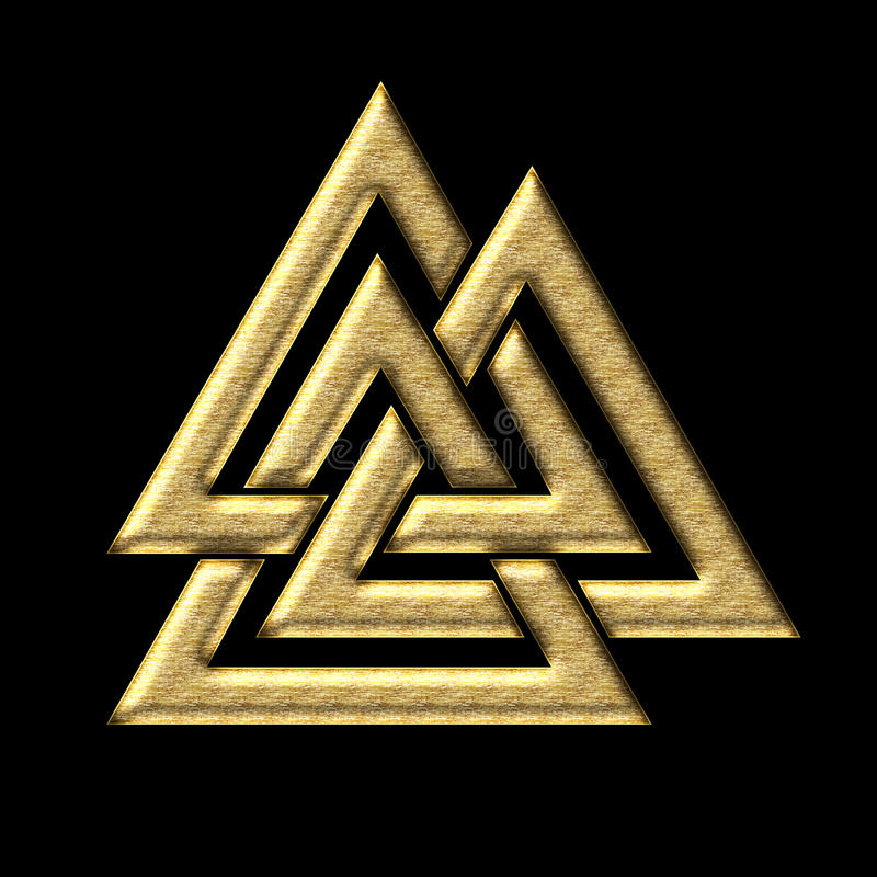 Wotans结- Valknut - Odin -三角 向量例证