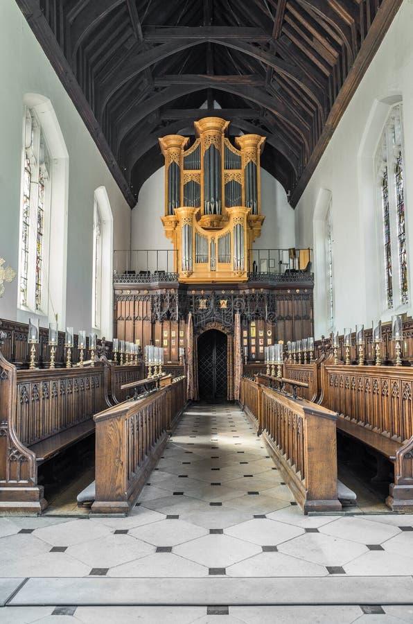 在从良的妓女学院,剑桥,英国的器官 库存图片