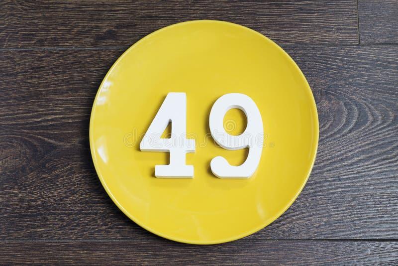 在黄色板材的第四十九 库存图片