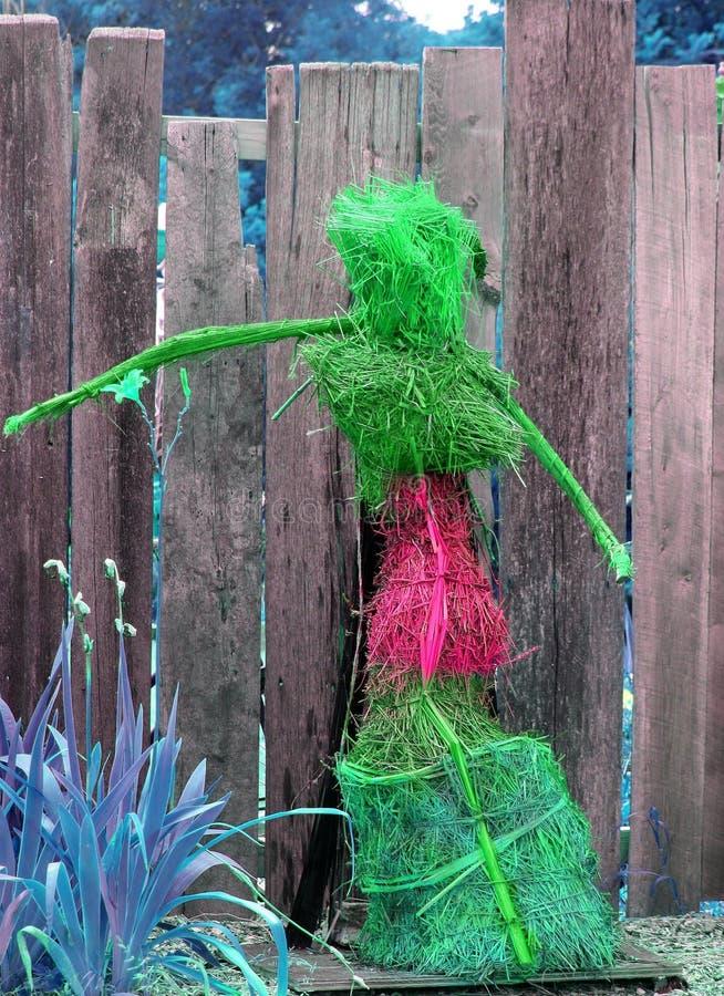 在绿色桃红色之外的比喻家庭菜园装饰 库存图片